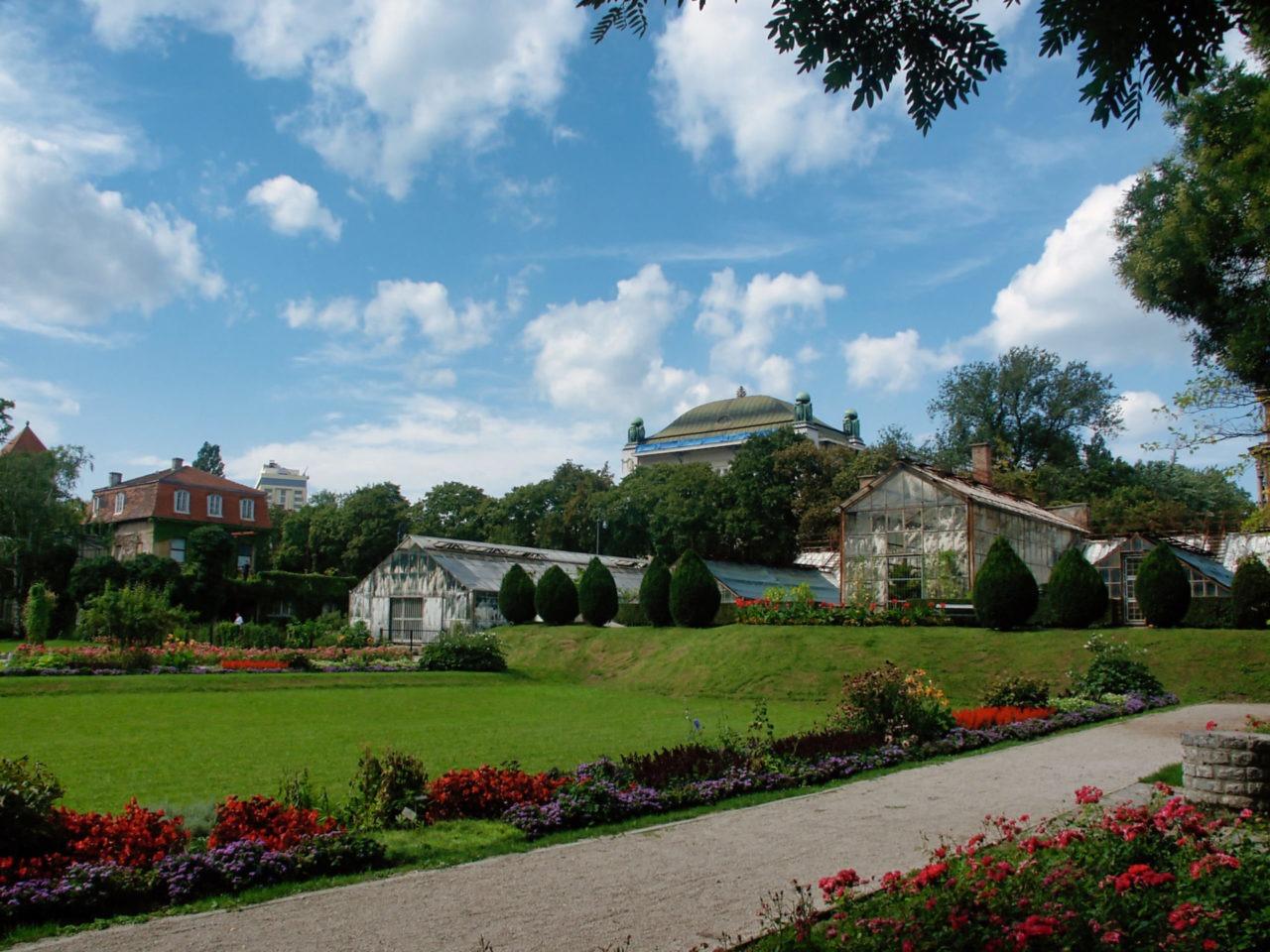 De botanische tuin in Zagreb de kassen