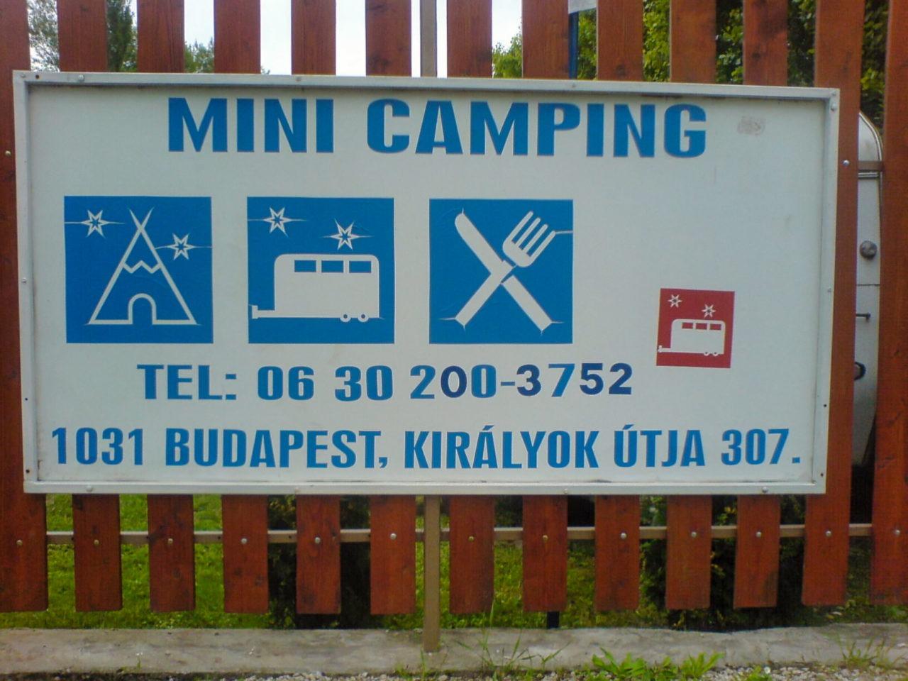 De mini camping in Budapest Hongarije