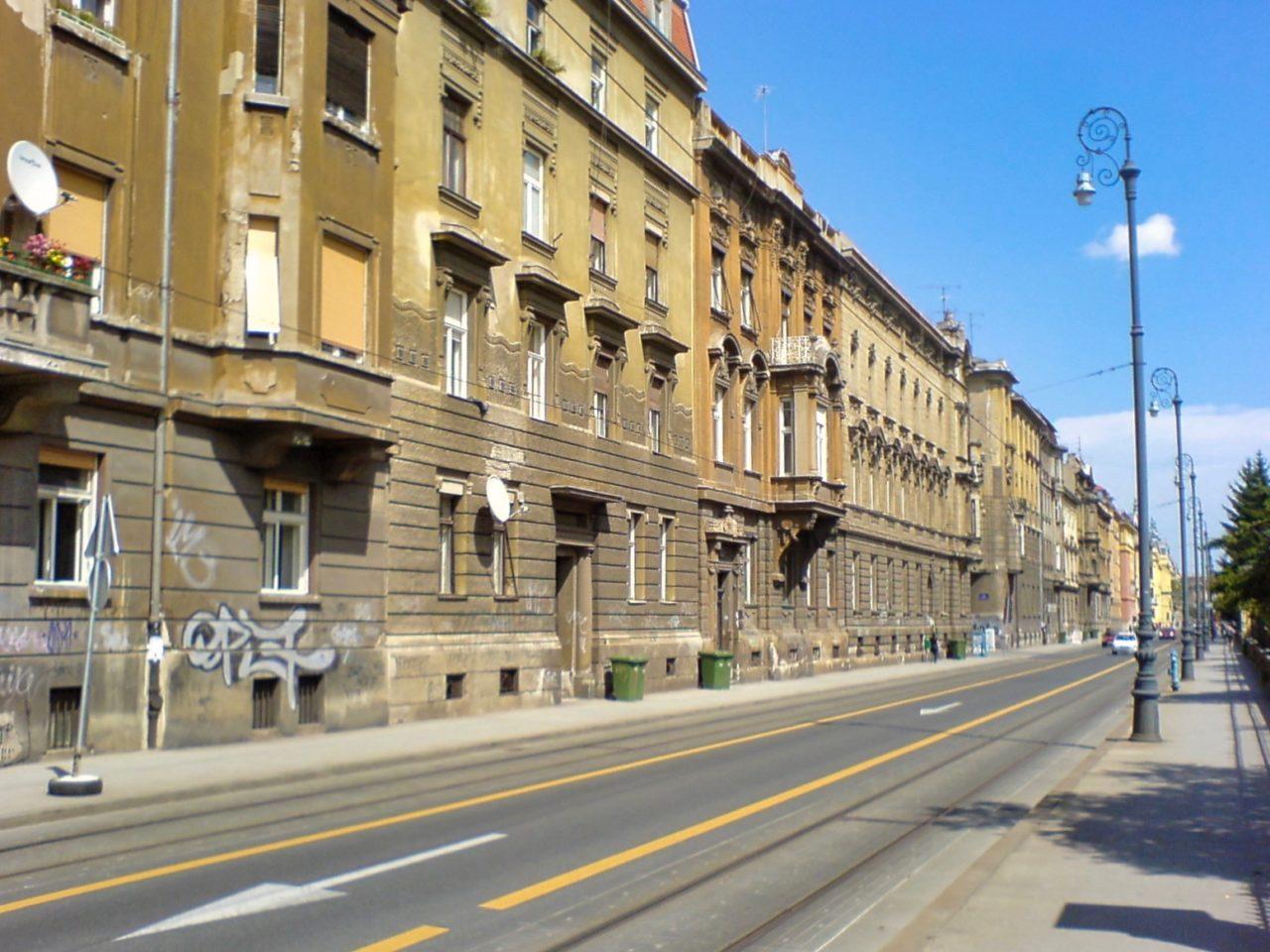 Een straat in Zagreb 01