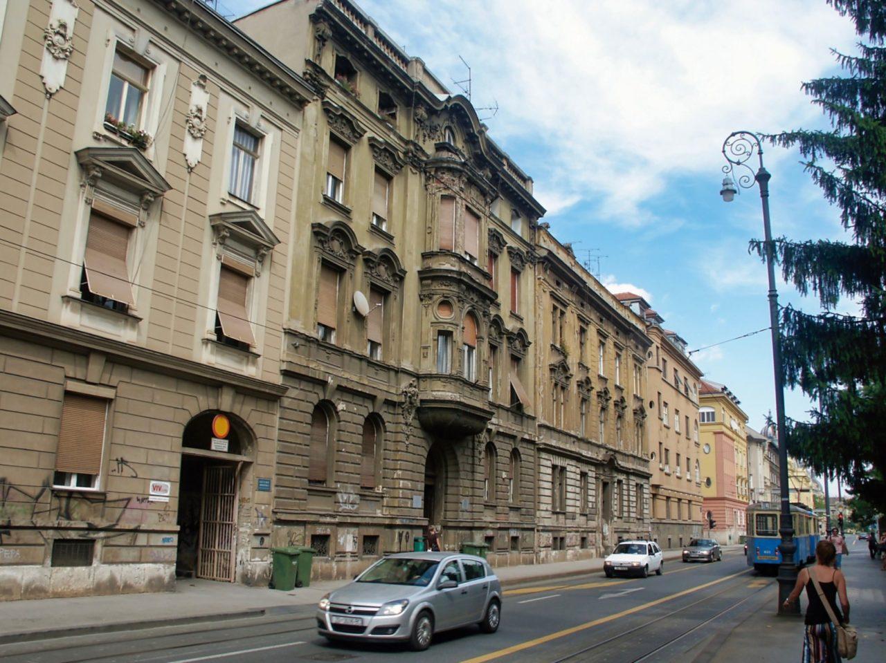 Een straat in Zagreb 03