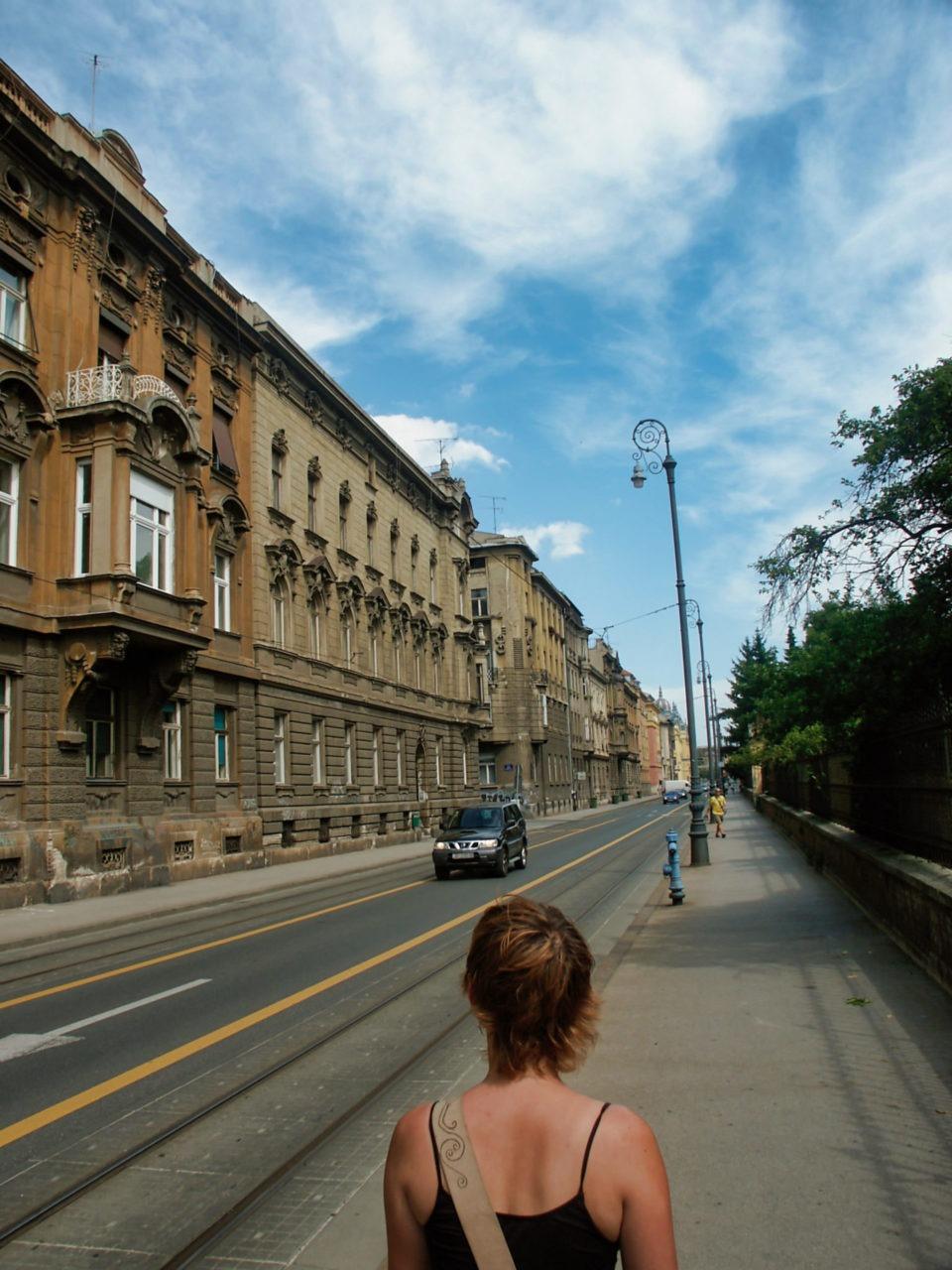 Een straat in Zagreb 02