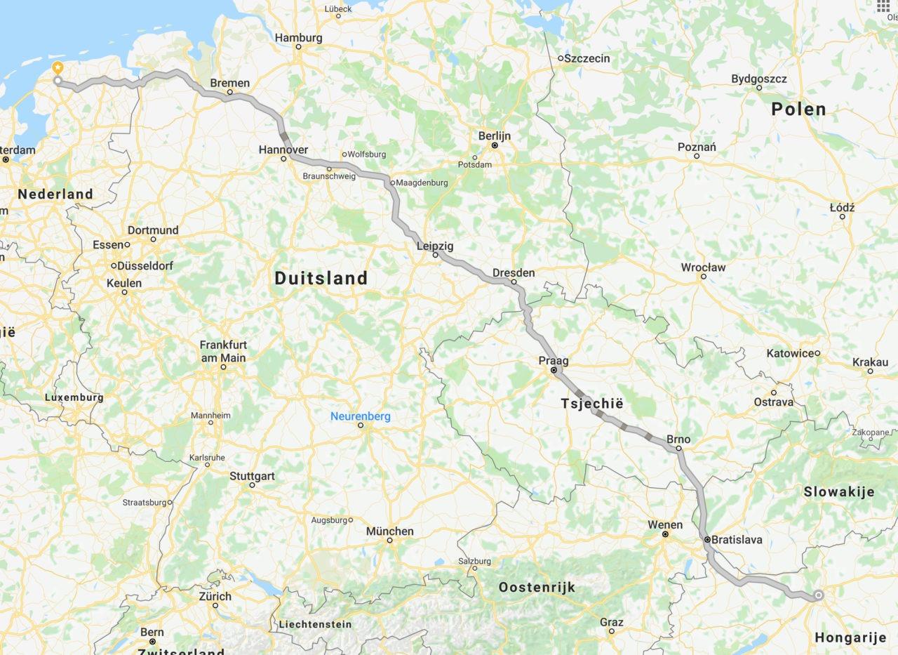 Hoe zijn wij van Leeuwarden naar Budapest zijn gereden