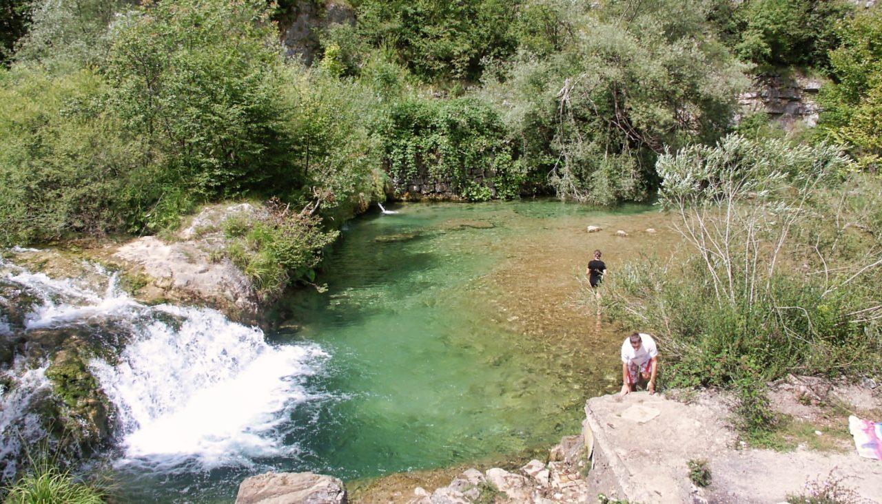 Mooi zwemplekje vlakbij Plitvice