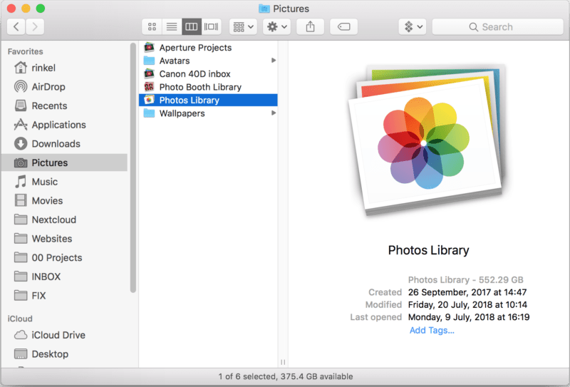 My Apple photos Library is big