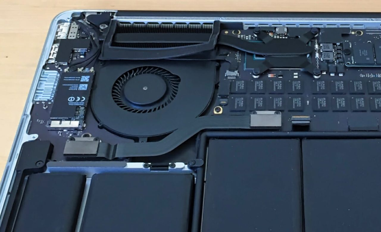 The cooling system in my Macbook Pro retina