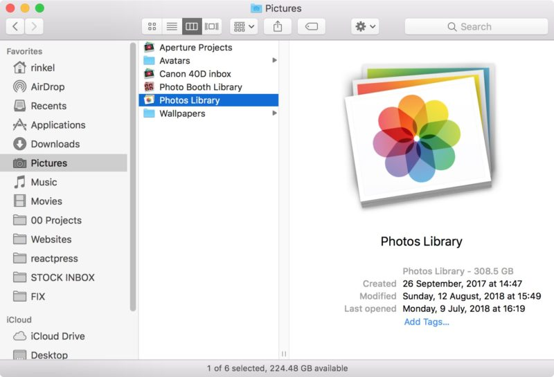 Three weeks later made my Apple Photos library 250 GB smaller